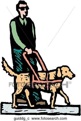Clipart Of Guide Dog Guiddg C Search Clip Art