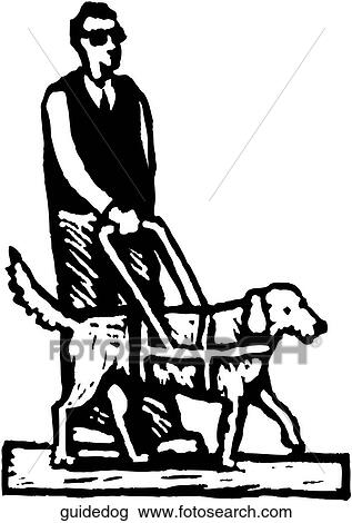 Clipart of Guide Dog guidedog - Search Clip Art, Illustration ...