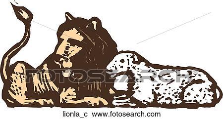 Clipart leone e agnello lionla c cerca clipart - Libero clipart storie della bibbia ...