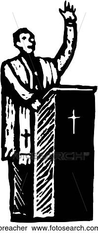 Clipart of Preacher preacher - Search Clip Art, Illustration ...