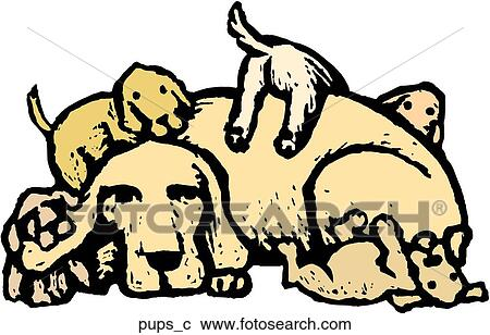 Clipart of Puppies pups_c - Search Clip Art, Illustration Murals ...