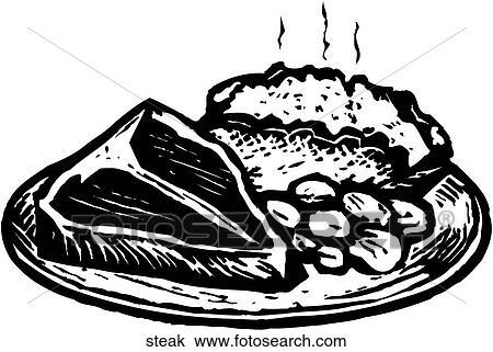 Clipart of Steak steak - Search Clip Art, Illustration Murals ...