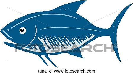 Clipart of Tuna tuna_c - Search Clip Art, Illustration Murals ...