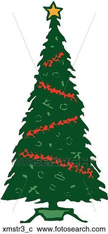 剪贴画 圣诞节树, 3