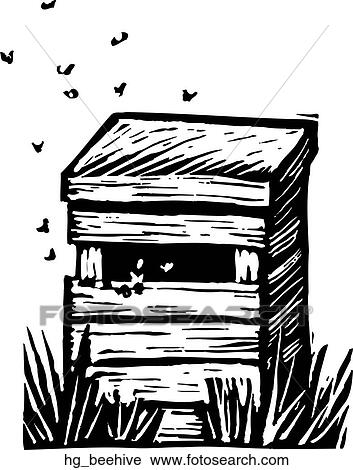 Clipart Of Beehive Hg