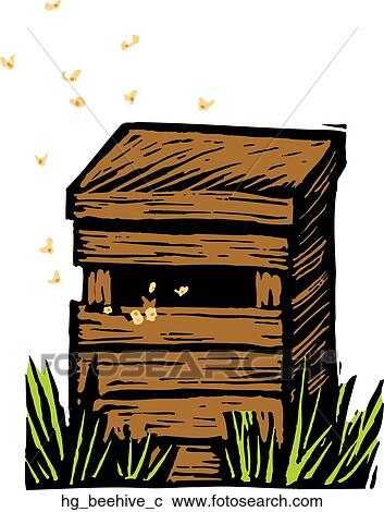 Clipart Of Beehive Hg C