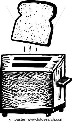 toaster clipart black and white. clipart - toaster. fotosearch search clip art, illustration murals, drawings and vector toaster black white