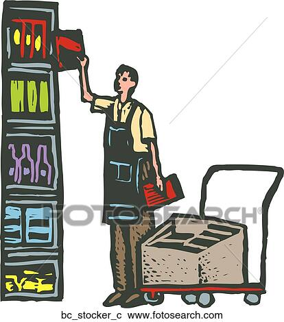 Store Stocker Clip Art
