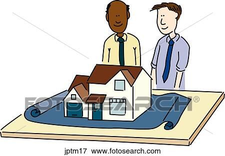 Stock Illustration of Architectural Model jptm17 - Search EPS ...