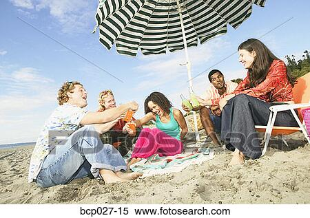 Stock Image Of People Relaxing At A Beach Party Bcp027 15