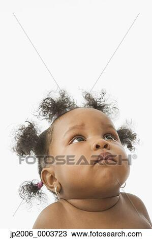 stock photo of studio shot of african baby looking up The Thinker Funny Rodin The Thinker Clip Art