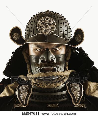 banques de photographies grand plan de homme asiatique dans samoura armure bld047611. Black Bedroom Furniture Sets. Home Design Ideas