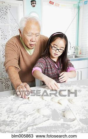 grandfather takes bath with granddaughter