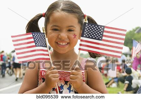 摇动 美国人旗