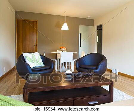Banque de photo contemporain salle de s jour meubles for Meuble sejour contemporain