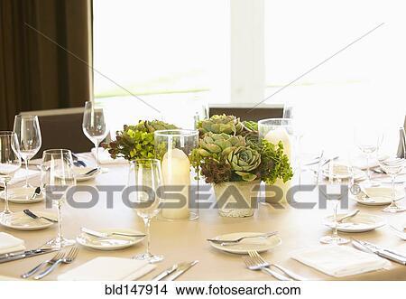 Stock foto elegante bankett esszimmer bld147914 for Elegante wandbilder