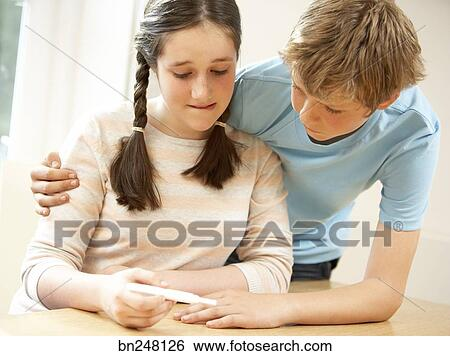 Teenage Pregnancy Tests Clip Art