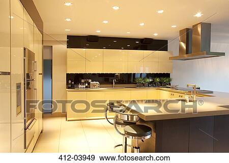 Colecci n de fotograf a mostradores y iluminaci n en - Mostradores de cocina ...