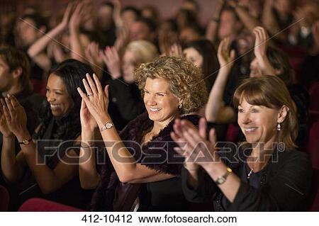 Stock Photo of Clapping theater audience 412-10412 ...