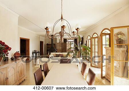 Bild luxus esszimmer 412 00607 suche stockfotografie fotos drucke bilder und fotoclipart - Luxus esszimmer ...