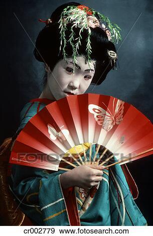 stock fotograf japanische kabuki t nzer in geisha. Black Bedroom Furniture Sets. Home Design Ideas