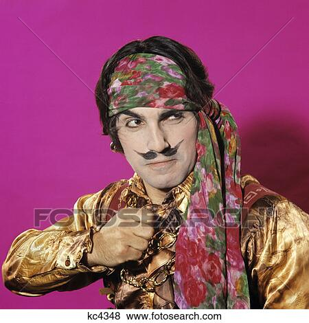 Shirt pirate fetish silk Male