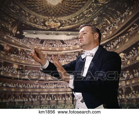 Stock Images of 1970 1970S Retro Conductor Maestro Symphony Orchestra ...