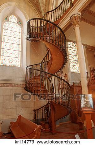banque de photographies santa fe nm miraculeux escalier chapelle loretto kr114779. Black Bedroom Furniture Sets. Home Design Ideas