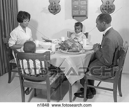 Pictures Of 1960S African American Family At Dining Table With