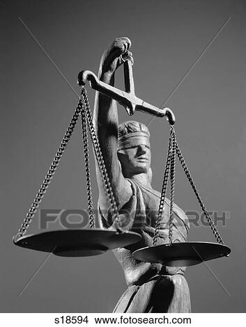 Stock Photo Of 1970s Statue Of Blind Justice Holding