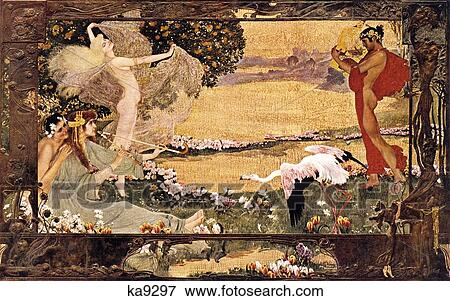 Picture of 1900S Art Nouveau Viennese Illustration Mythical ...