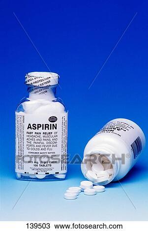 Generic Aspirin Bottle Clip Art
