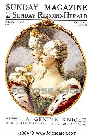 1700s powdered wig