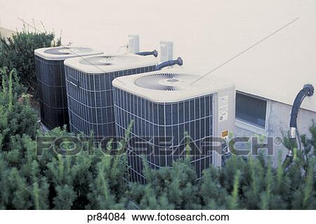 Stock photo of air conditioners outside pr84084 search for Air conditionn mural
