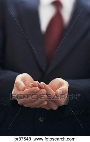 Pictures of Businessman holding out empty hands. pr87548 ...