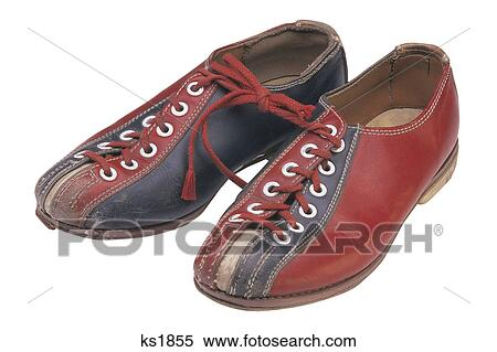 Stock Image of Old fashioned bowling shoes ks1855 - Search Stock ...