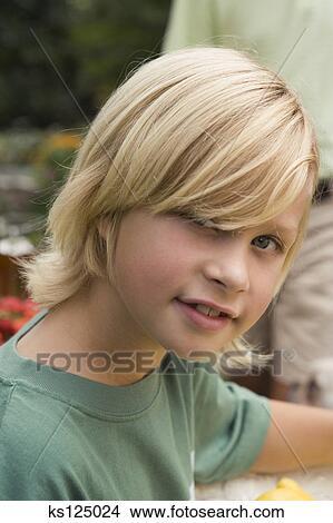 Stock Photo Of Boy With Light Blonde Hair Ks125024