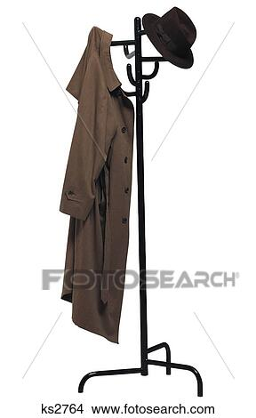 Garderobenständer clipart  Stock Photo of Household Icons, Clothes, Clothes Hanger, Clothing ...