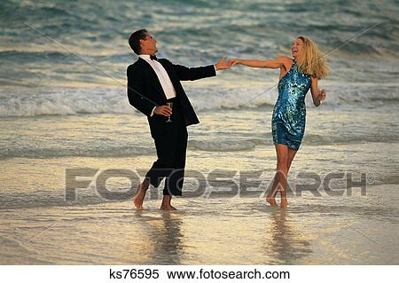Stock image of vacations tropical 2 beach black tie for Tropical vacations for couples