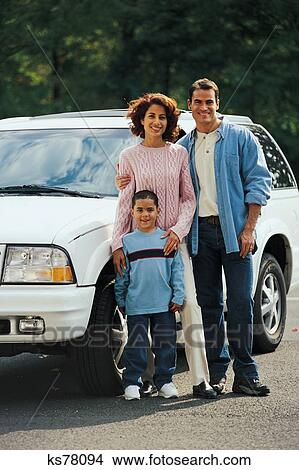 Stock Photo Of Personal Finance Auto Carbuying Cars Family