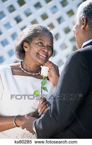 Stock Image of Milestones, african american, bride, couple, groom ...