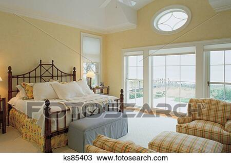 stock photo real estate buying selling 2 bed bedroom furniture - Selling Home Furniture