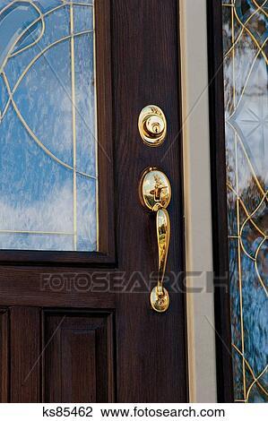 Banque De Photo Bien Immobilier Acheter Vendre 2 Porte Bouton Porte Entr E Porte