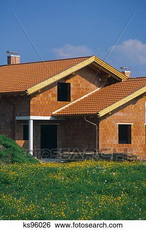 Banque d 39 images ext rieur maison ks96026 recherchez for Banque exterieur d algerie