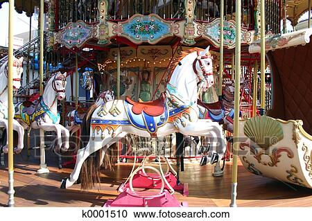 Stock photography of carousel k0001510 search stock for Carousel wall mural