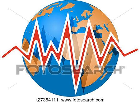 clipart of earth and earthquake lines richter magnitude scale rh fotosearch com earthquake clipart png earthquake clipart images