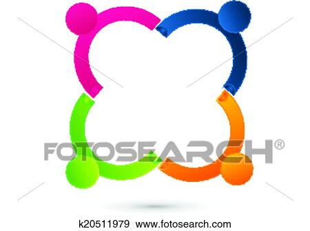 clip art of teamwork connected people logo k20511979 search rh fotosearch com clip art teamwork images clip art teamwork pictures