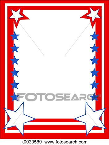 Patriotic Border Clipart