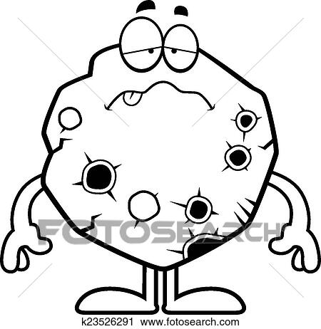 clipart of sick cartoon asteroid k23526291 search clip art rh fotosearch com