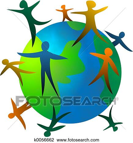 Clip Art of World People k0056662 - Search Clipart, Illustration ...